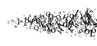 Letters. Black letters of the alphabet royalty free stock photos