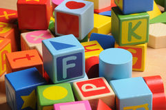 Letters block Royalty Free Stock Photos