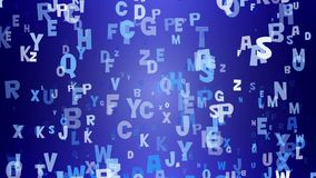 Letters on blue