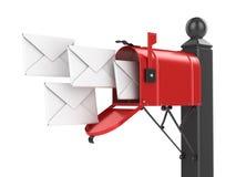 letters brevlådared Royaltyfria Bilder