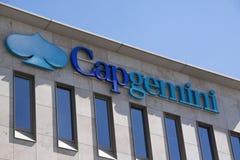 Letters capgemini on a wall Stock Photo