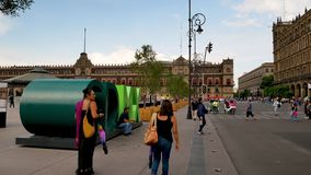 Letters of CDMX in Historic center of Mexico City stock video