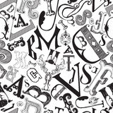 Letters in a chaotic mess Stock Photo