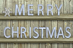 Letters christmas on wood  background Stock Images