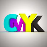 Letters CMYK Royalty Free Stock Images