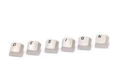 Letters collected from computer keypad buttons design isolated Stock Image