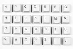 Letters from computer keyboard Stock Photos