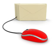 Letters and Computer Mouse (clipping path included) Royalty Free Stock Photography