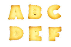 Letters Cookies Stock Image