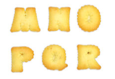 Letters Cookies Stock Photo
