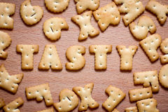 Letters of cookies Stock Photo
