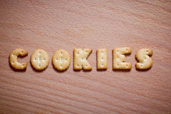 Letters of cookies Stock Photography