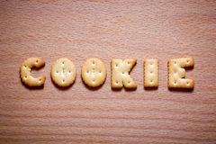 Letters of cookies Royalty Free Stock Photography