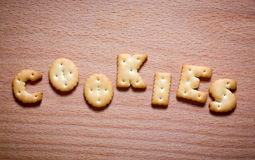 Letters of cookies Royalty Free Stock Image
