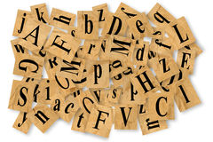 Letters cut out of newspaper Royalty Free Stock Photo