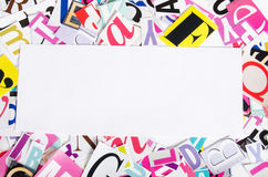 The letters cut out from newspapers Royalty Free Stock Photos