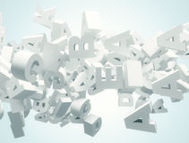 Letters 3d background Stock Images