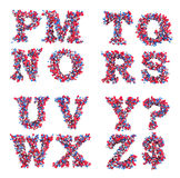 letters den abstrakt stilsorten 3d M-symboler z Arkivfoto