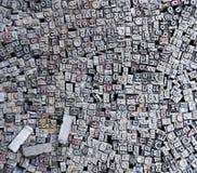 letters den gammala typoen Arkivbilder
