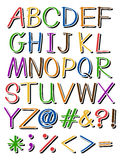 Letters in different colors Stock Image