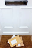 Letters on the doormat Royalty Free Stock Photo