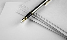 Letters an dpens Stock Image