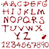 Letters dripping with blood royalty free illustration