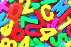 Letters en getallen Royalty-vrije Stock Afbeeldingen