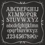 Letters en getallen het malplaatje van het embleemontwerp tekst vector illustratie