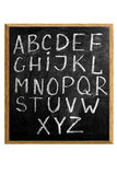 Letters of English alphabet Royalty Free Stock Image