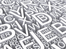 Letters of the English alphabet. Background Stock Photo