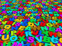 Letters of the English alphabet. Stock Image