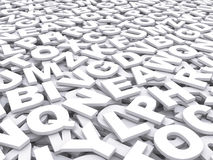 Letters of the English alphabet. Royalty Free Stock Photo