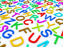 Letters of the English alphabet. Royalty Free Stock Photos