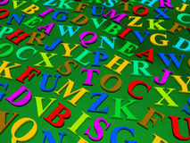 Letters of the English alphabet. Stock Photography