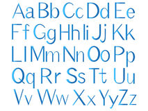 Letters of the english alphabet, blue color. Stock Images