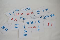 Letters of the English alphabet royalty free stock images