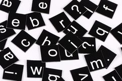 The letters of the English alphabet Stock Images