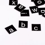 The letters of the English alphabet Stock Photography