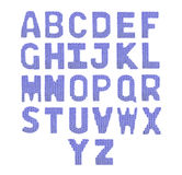 Letters english alphabet. Color dark blue Royalty Free Stock Photo