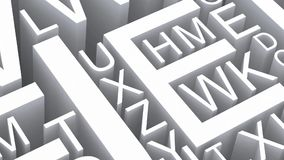Letters of the English alphabet. stock video footage
