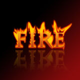 Letters of fire. Detail of an illustration of letters of fire Royalty Free Stock Photos