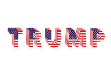 Letters from flag Trump Donald election table Royalty Free Stock Photos