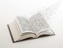 Letters flying out of a book. Letters flying out of an open book Royalty Free Illustration