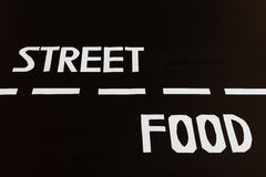 The letters that form the word british street food Stock Image