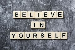 Free Letters Forming A Motivation Phrase Believe In Yourself Stock Photos - 166796083