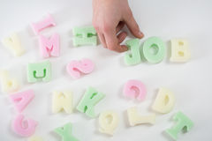 Letters forming word job Royalty Free Stock Photo