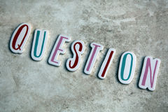 Letters forming word Question Royalty Free Stock Images