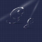 Letters G Writing in Italics Royalty Free Stock Image