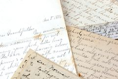 letters gammalt Arkivbilder